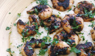 Shizzled Shrimp and Grits