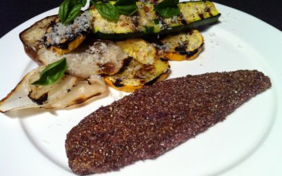 Blue Cornmeal Crusted Bluefish