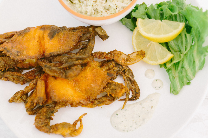 Fried North Carolina Soft Shell Blue Crabs
