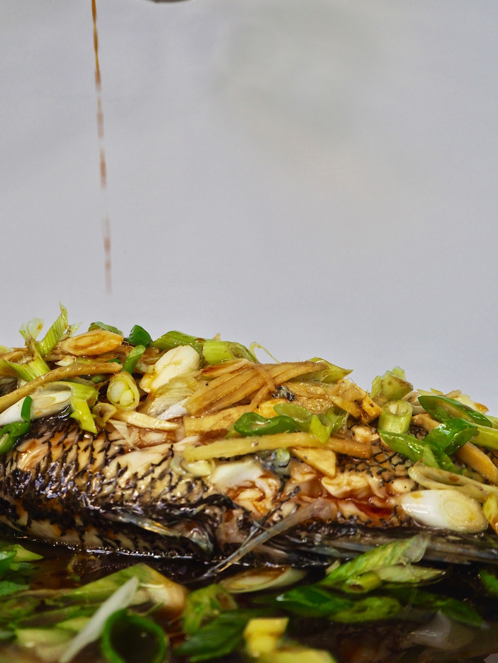 Steamed Black Sea Bass