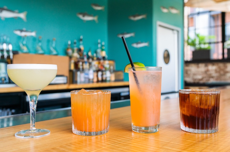 Craft Cocktails - including the Seawolf and the Seaside Negroni - from Locals Oyster Bar