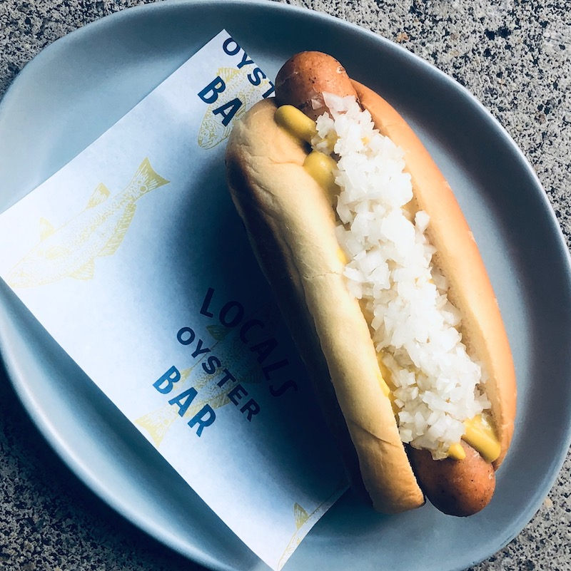 Locals Seafood Butchery Shrimp & Scallop Hot Dog